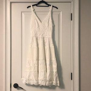 White Lace Midi Dress